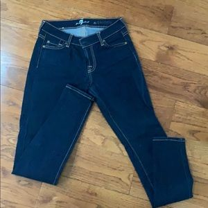 Women's 7 for all mankind sz25 the skinny jeans
